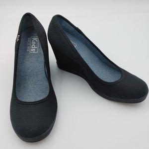 🆕 Keds Damsel black wedges size 7